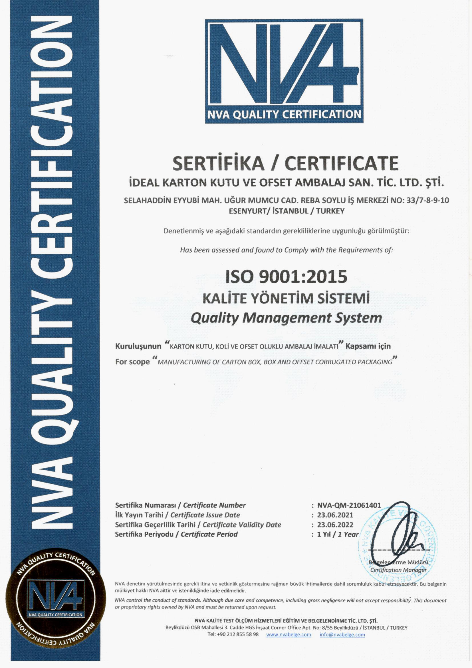 Quality Manengement ISO 9001